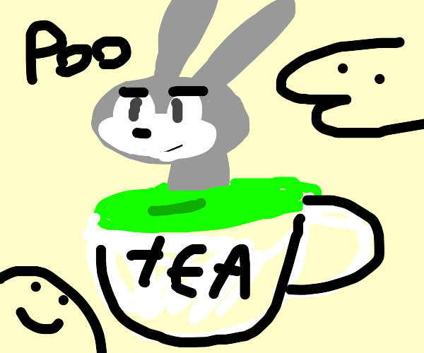 Buggs Bunny chillin' in some tea