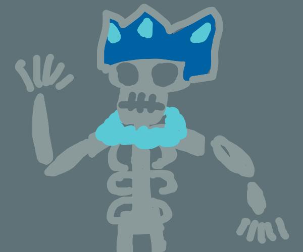 King skeleton death man