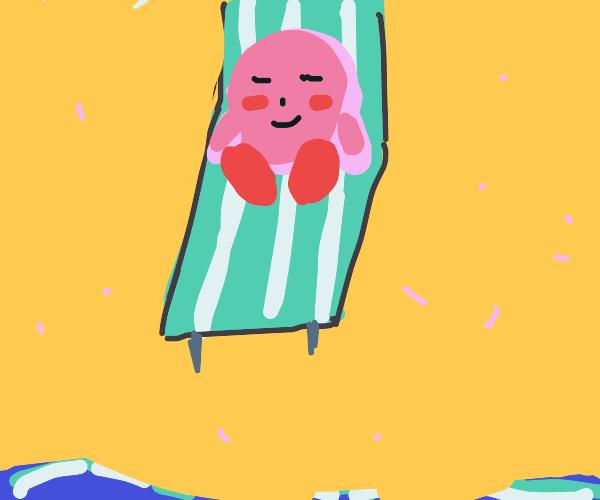 kirby sunbathing