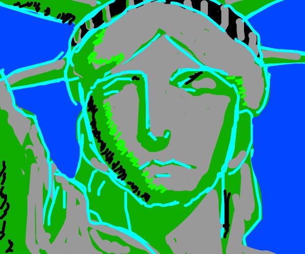 statue of liberties face