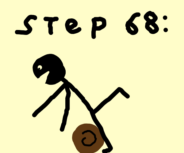 Step 68: Trip and fall