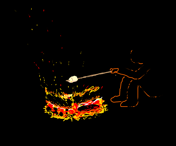 Grilling marshmallows
