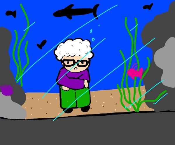 Grandma in an Aquarium