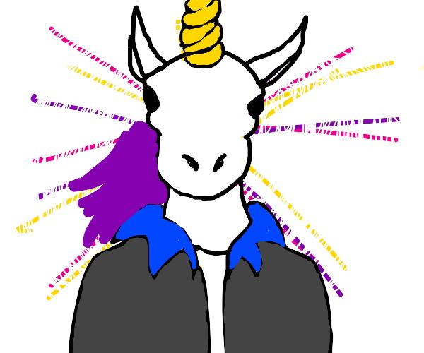 Unicorn face man