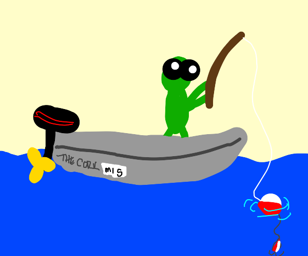 guy fishing on a boat