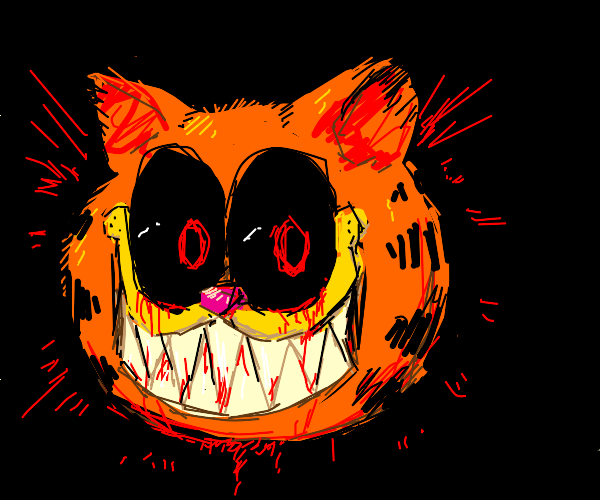 Possessed Garfield Drawception