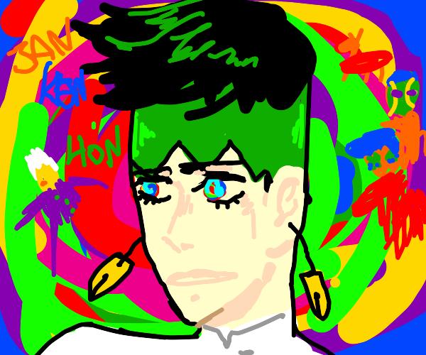 Rohan Kishibe has an acid trip