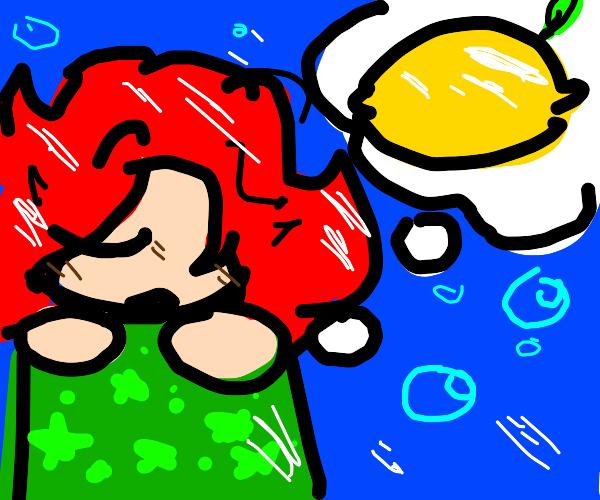 Mermaid dreaming of a Lemon