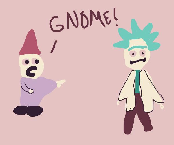 Gnome calls Rick Sanchez A Gnome