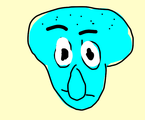 Squidward but as a CD-I character