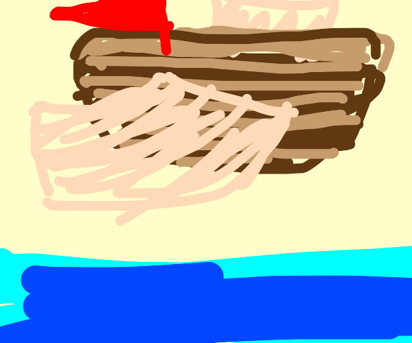 flying wooden ship