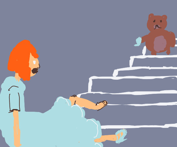bear steals cinderella's shoe