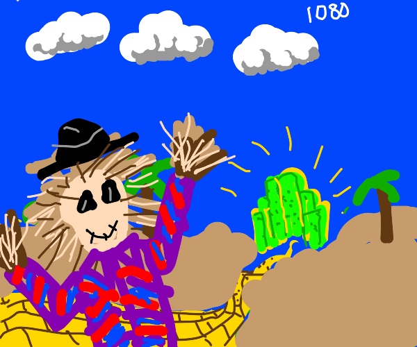 scarecrow in desert HD edition