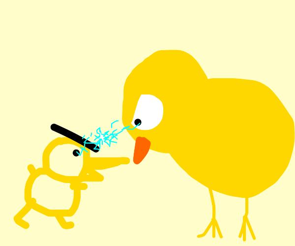 Bad drawed chicken versus good drawed chicken