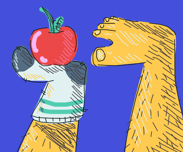 your toes are consuming an apple