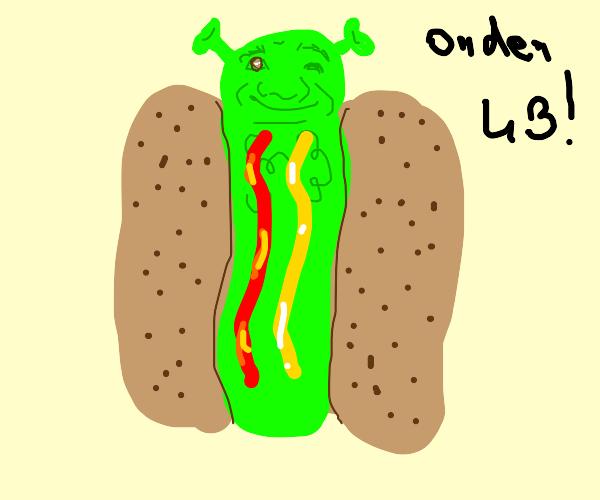 Shreck animorphs into a hot dog