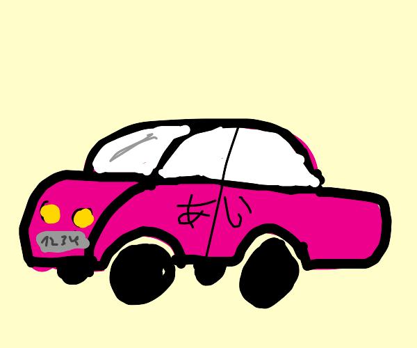 pink japanese car