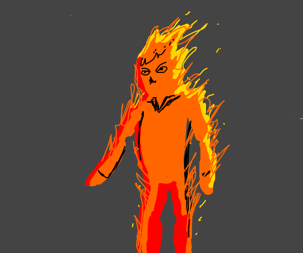 Man made of fire