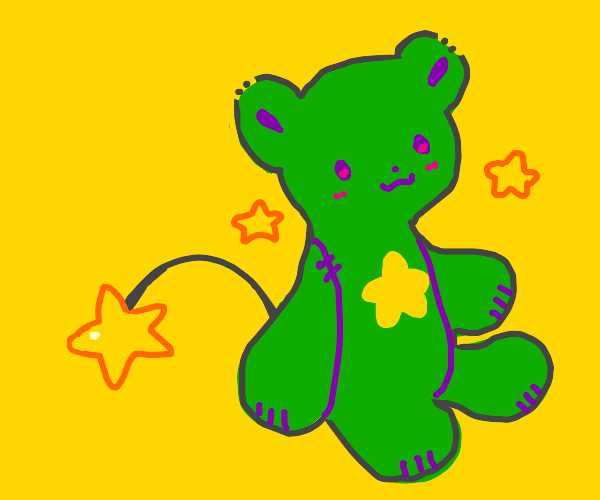 Teddy with star tail