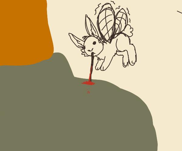 rabbit mosquito sucking blood