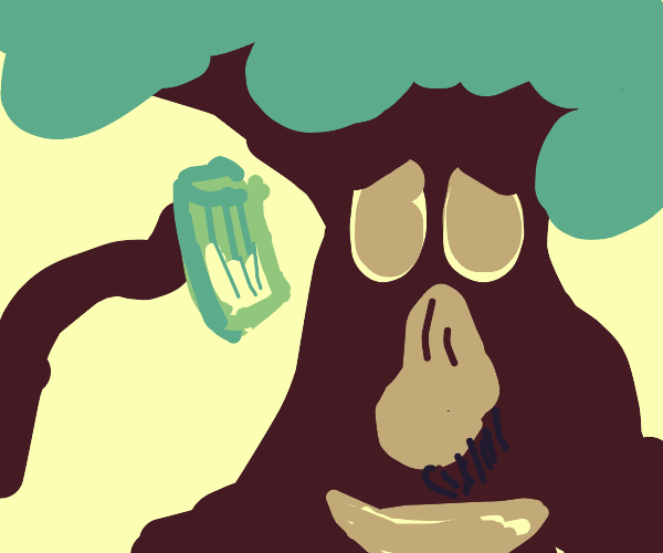 big nosed tree drinking lemonade