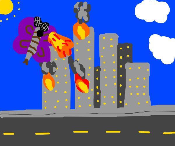 THE MOTH attacking a city