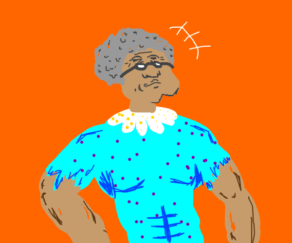 old lady has guts