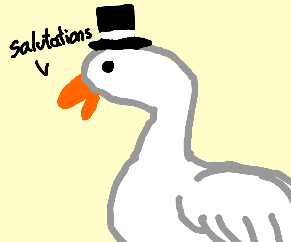 Goose wearing a Top Hat
