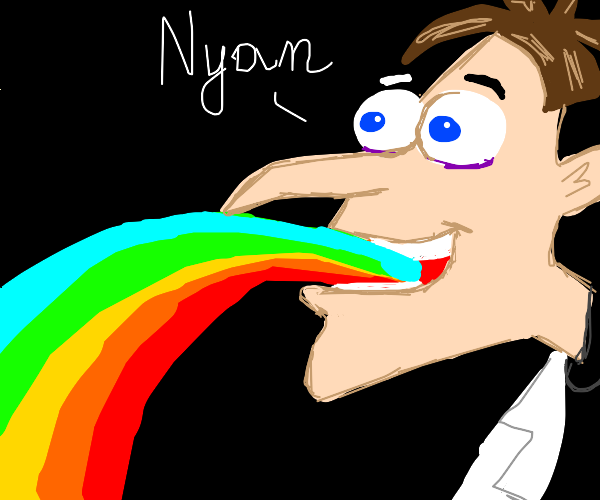 Dr. Doofenshmirtz vomits & says Nyan