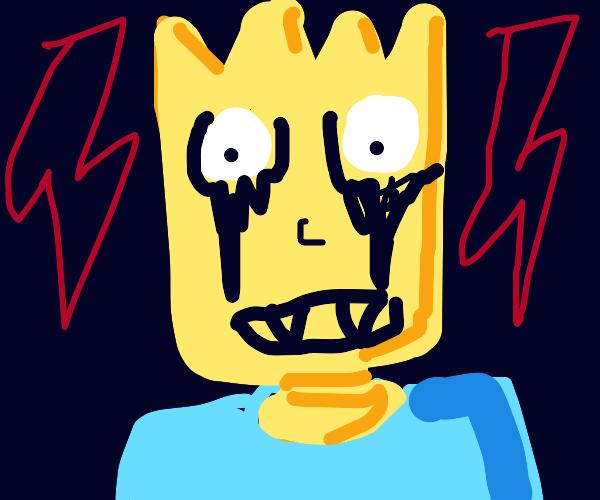 Bart is a metalhead
