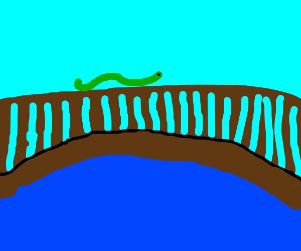 snek on a bridge