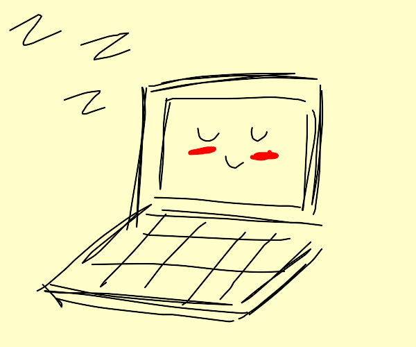 Sleepy laptop
