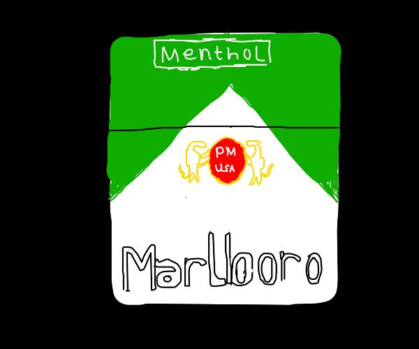 Menthol flavored marlboros