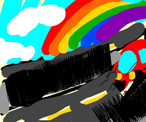 Racecar on Highway