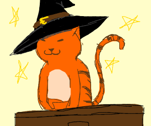ginger cat is a witch