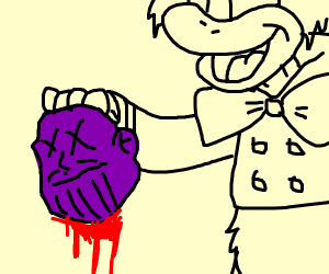 Thanos gets killed by a giant duck
