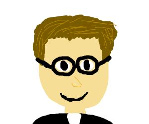 Handsome nerd