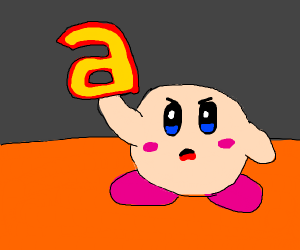 Kirby has a and he's not afraid to use it!
