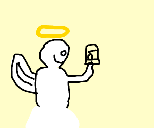 Angel trying to make a TikTok