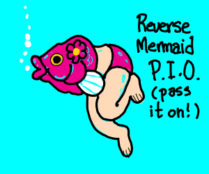 Reversed mermaid