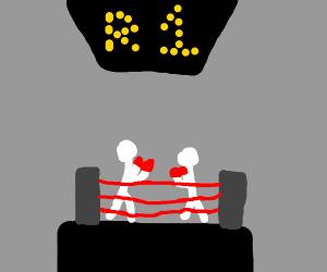 two white stikman fighting box