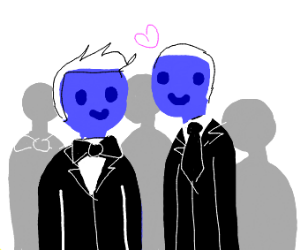 A couple attending a fancy dance