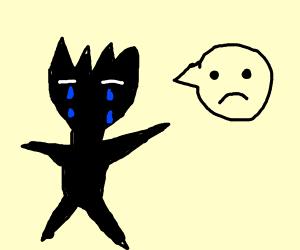 Anime shapes crying