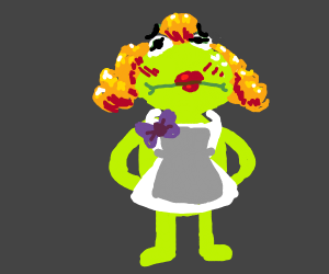 Submissive French Maid Kermit