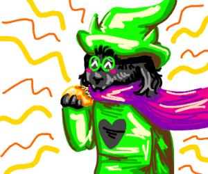 Ralsei happily munching a taco