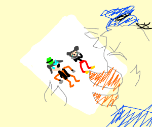 Goofy hates Mikcey and Donald's derpy version