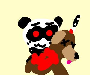 Panda in a dog