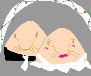 A blobfish wedding