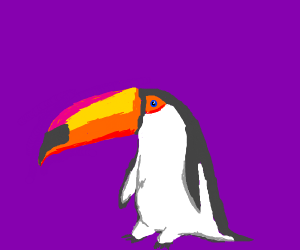 A penguin-like toucan