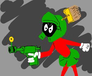 Alien has joke toy ray gun